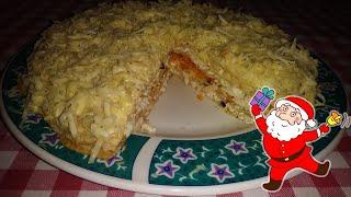 Закуска БЛИННЫЙ ТОРТ С КУРИЦЕИ ГРИБАМИ. Закусочный торт  Закуска на 8 марта  салат