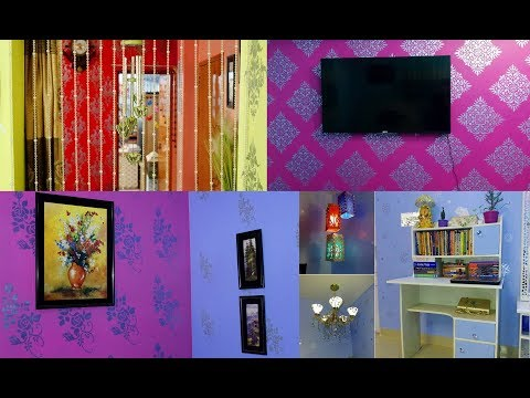 Easy & Beautiful Stencil Wall Painting Design || Interior Wall Painting Ideas || Art Of Learning ||