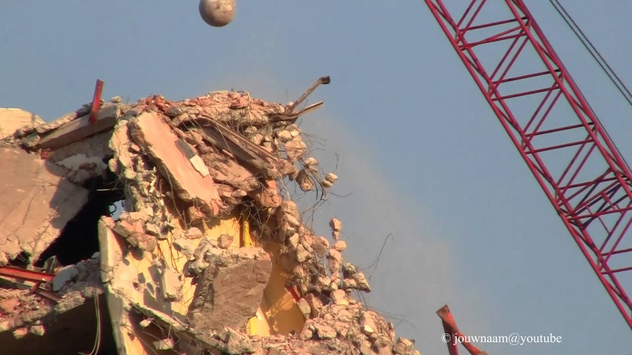 Wrecking Ball Demolition : Demolition with a wrecking ball youtube