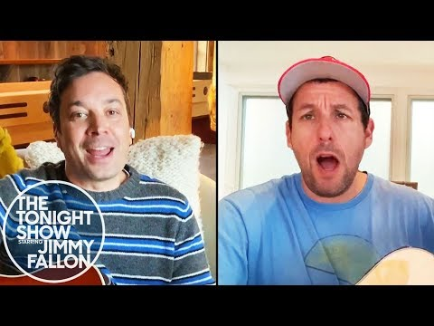 """Adam Sandler And Jimmy Perform """"Don't Touch Grandma"""" (The Tonight Show: At Home Edition)"""