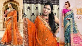 Latest Fashionable Designer Silk Sarees ll Online Shop ll 18 June 2018