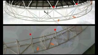Basic London 2012 Olympic Stadium Roof Structure Toothpick Model