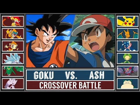 Son Goku Vs. Ash Ketchum (Pokémon Sun/Moon) - Dragonball/Pokémon Crossover