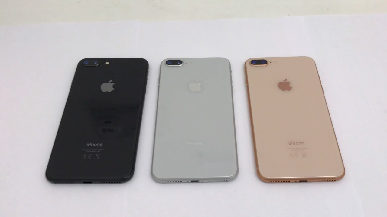 iPhone 8 Plus Colour Comparison , Space Grey, Silver and Gold!