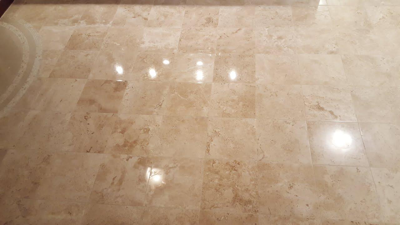 Travertine Limestone Tile Floor Repair, Refinishing