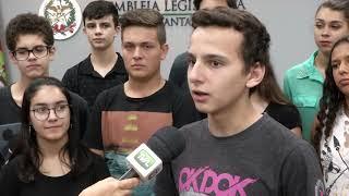 Vereadores mirins de São João Batista visitam Parlamento.