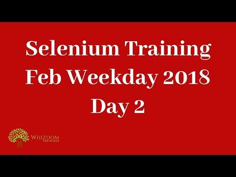 Selenium Webdriver Training Day 2