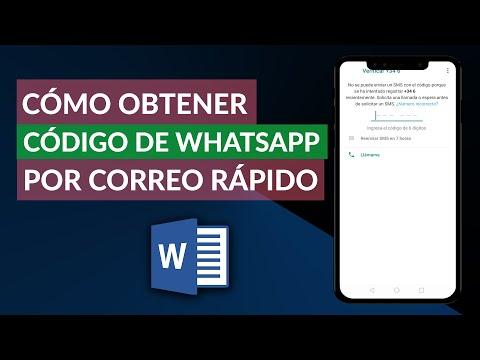 Cómo Obtener el Código de WhatsApp por Correo Rápidamente