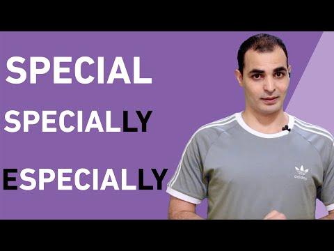 الفرق بين special , specially, especially شرح قواعد اللغة الانجليزية English Bits 29