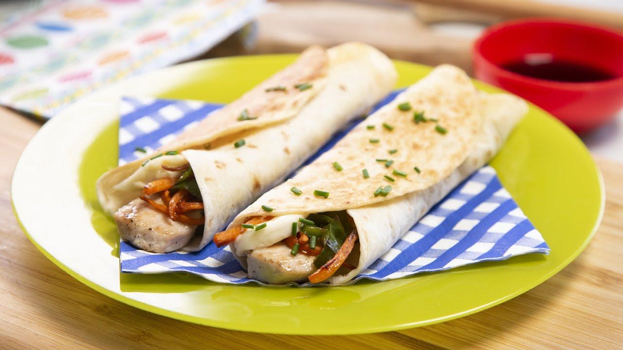 'Mira qué bueno': fajitas de pollo y verduras para preparar con los niños