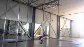 TUTORIAL - POLE DANCE - Potenziamento 1 - serie di chopper + discese gemini scorpio