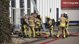 Zeer grote brand bij drukkerij SMG in Hasselt