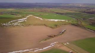Alton Barnes Hills and Village flythrough by Drone 4K