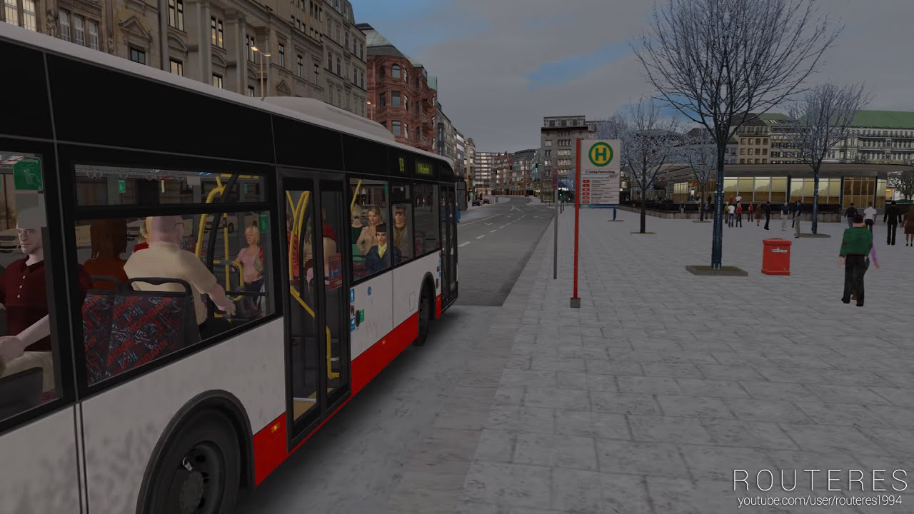 Omsi 2 - Bi-Articulated Bus Agg 300 Dlc  Routeres 22:41 HD