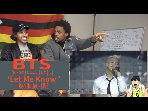 BTS (방탄소년단) THE RED BULLET DVD LET ME KNOW LİVE | REACTION