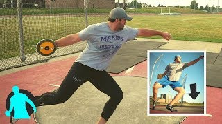"Discus Throw Technique | ""Dropping the Knee"""