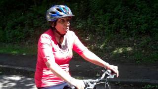 Tasnim learns to ride a bike as an adult for the first time