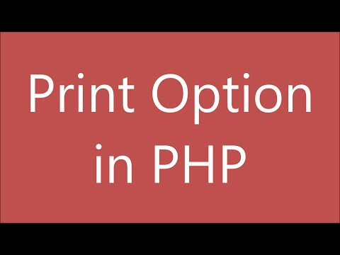 Print Option in PHP using Javascript | Save in Pdf | PHP Beginner Tutorial thumbnail