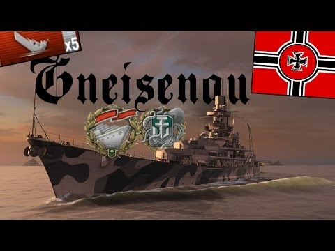 Gneisenau Ranked Solo Warrior Kraken  - Thank god its over... World of Warships