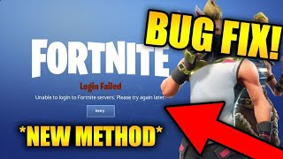 Fortnite Network Failure when attempting to check service status bug!!