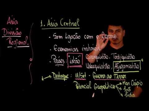 Aula 73 ASIA parte 1 DIVISÃO REGIONAL