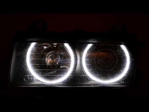 install angel eyes bmw e36 smd led instalare angel eyes. Black Bedroom Furniture Sets. Home Design Ideas