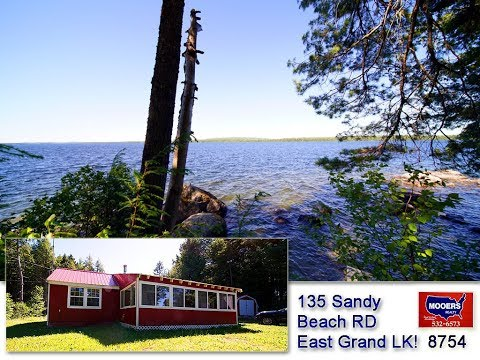 Maine Waterfront Listing | 135 Sandy Beach East Grand Lake Property MOOERS REALTY 8754
