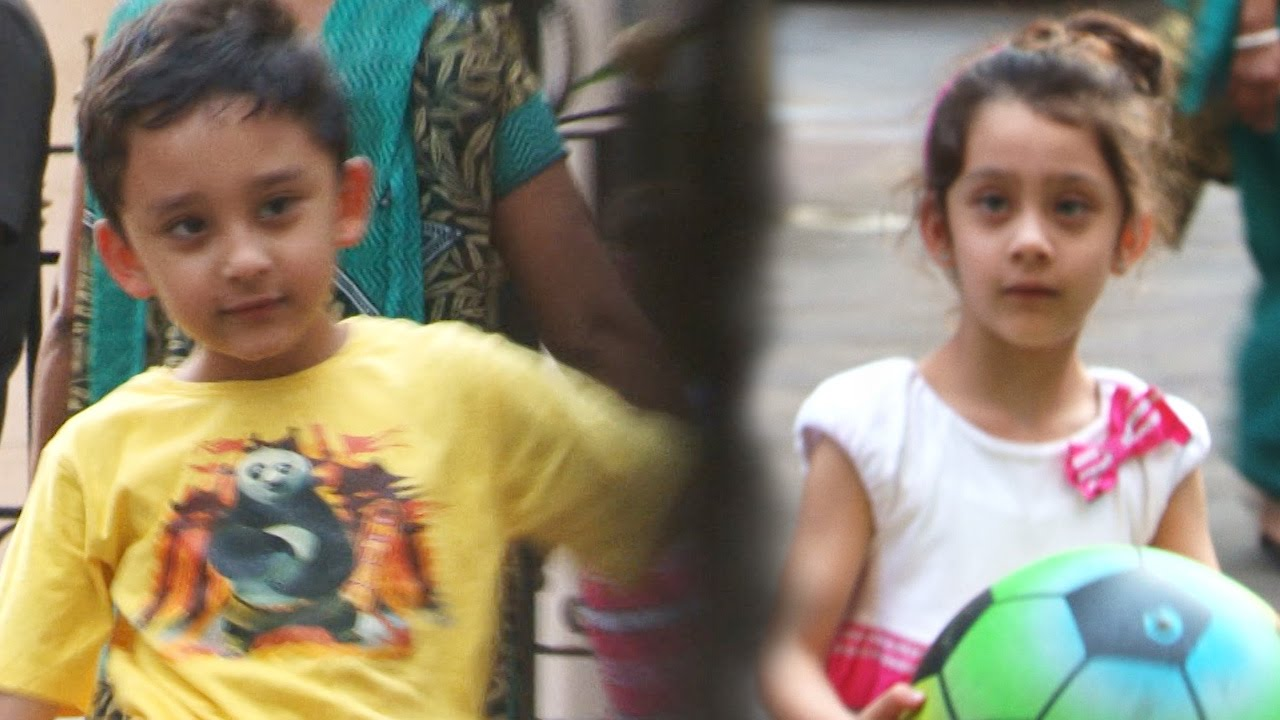 Sanjay Dutt's kids Shahraan & Iqra CAUGHT playing football