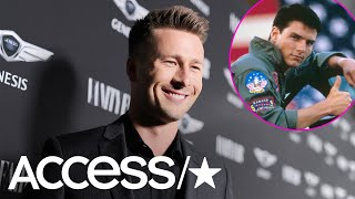 Glen Powell Hilariously Fanboys Over Joining The Cast Of 'Top Gun: Maverick'   Access