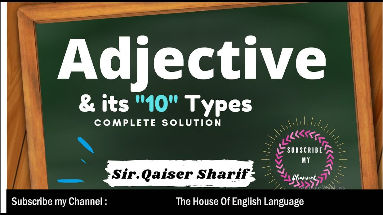Adjective & its Types
