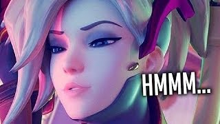 HE AFKED BECAUSE I PLAYED MERCY?! - Overwatch