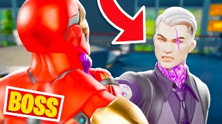 BOSS IRON MAN vs BOSS MIDAS OMBRE !! ( Expérience Boss Fortnite )