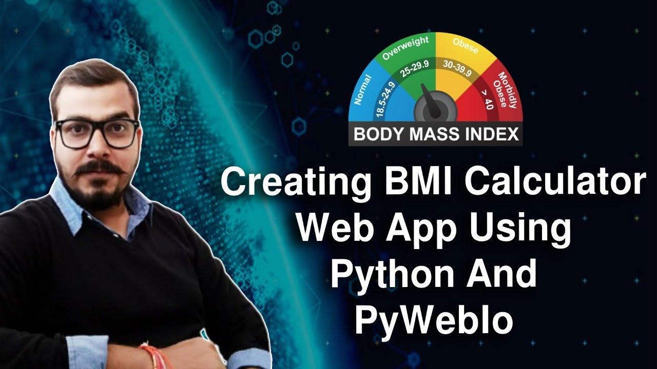 Creating BMI Calculator Web APP Using Python And PyWebIO