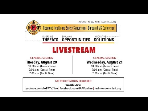 2019 Redmond Symposium and Barbera EMS Conference - General Session: Tuesday, August 20th