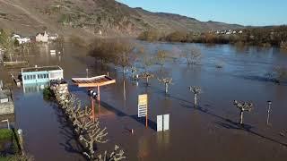 Hochwasser: Drohnenflug über Ürzig, Zeltingen und Bernkastel-Kues