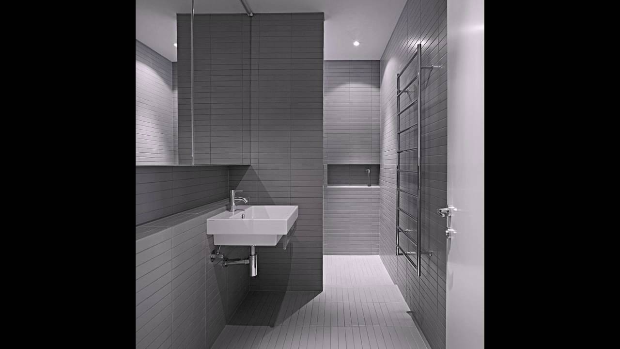Minimalistische Badezimmer Mit Eleganten Verwendung Von Grau