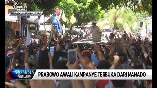 Prabowo Awali Kampanye Terbuka di Manado
