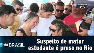 Download Video Polícia prende suspeito de matar estudante que defendeu a mãe em assalto | SBT Brasil (17/01/19) MP3 3GP MP4