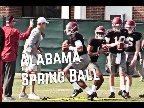 Alabama Football Spring Ball Highlights