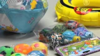 Небезпечний хімікат знайдений в іграшках з Китаю