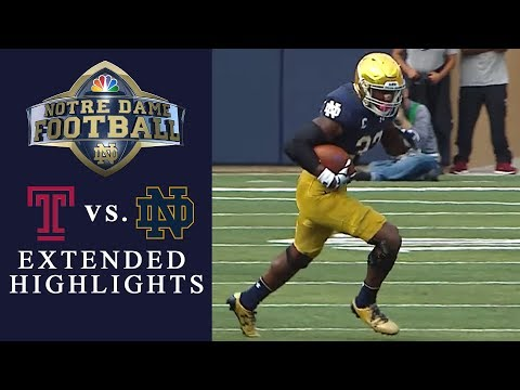 Temple vs. Notre Dame EXTENDED HIGHLIGHTS | NCAA Football | NBC Sports