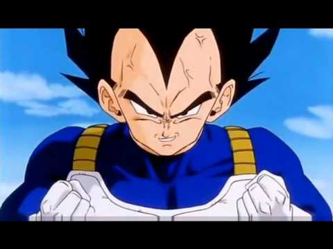 Vegeta turns super saiyan for the first time.