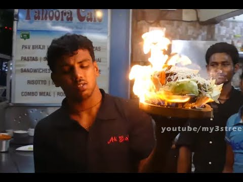 #FOOD SERVING WITH FIRE | SIZZLERS CHICKEN NOODLES | NEVER SEEN BEFORE Street Food