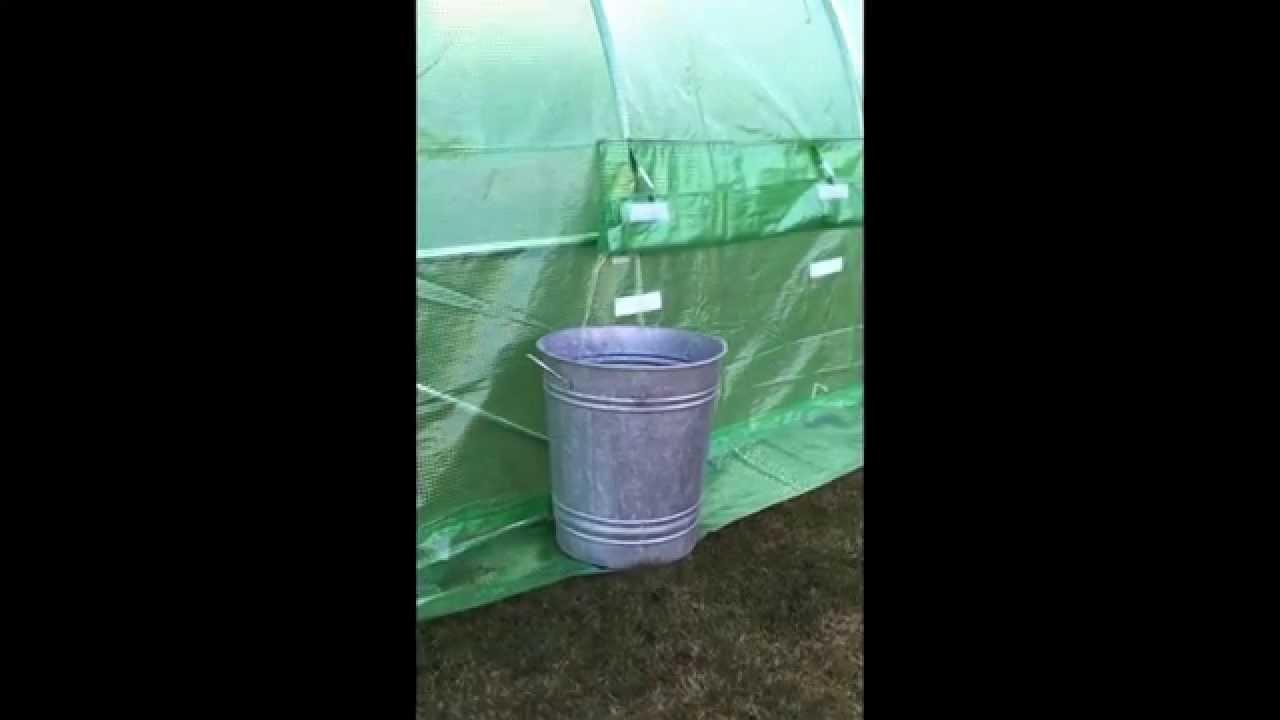 PT3 PT4 PT6 Polytunnel Greenhouse water gutter butt rain collector - Feel  Good UK