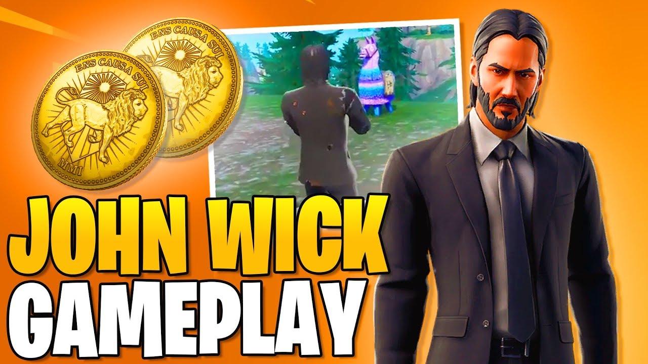 New Skin John Wick 3 Fortnite Gameplay Fortnite Free Skins Youtube