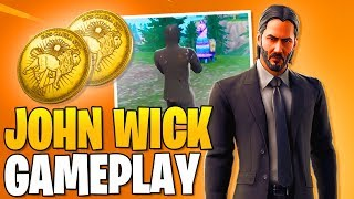 NEW SKIN JOHN WICK 3 Fortnite Gameplay! (Fortnite Free Skins)