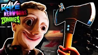 RAVE IN THE REDWOODS IW ZOMBIES DLC1 TRAILER BREAKDOWN - NEW CHARACTER, HORROR FILM MAP! MY REACTION