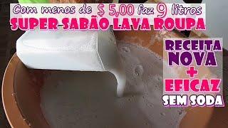 SUPER SABÃO LAVA ROUPAS (POTENTE TIRADOR DE MANCHAS) SEM SODA