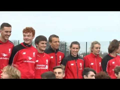 #ThrowbackThursday - Lucas Leiva officially opens Anfield Sports and Community Centres new 3G pitch.