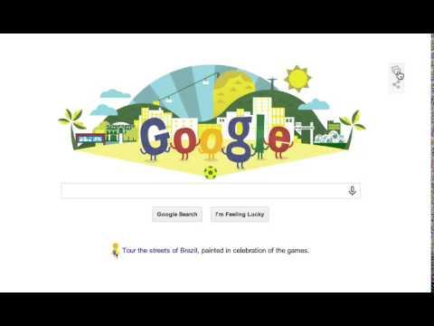 Google Doodle Soccer World Cup 2014